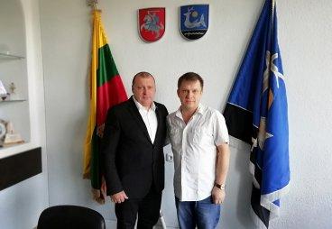 Встреча руководителя проекта с мэрами Зарасая и Рокишкиса